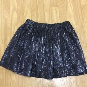 ⚡️SALE⚡️IRO navy blue shimmer mini skirt